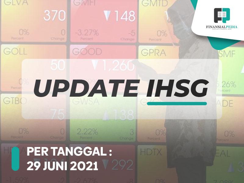Update IHSG 29 Juni 2021 GGRM BRMS Meroket, IHSG Bergerak Fluktuatif